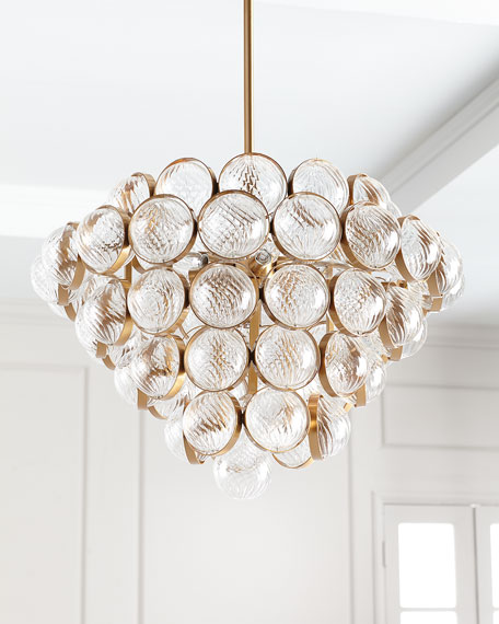 Sphaira Glass & Metal Chandelier