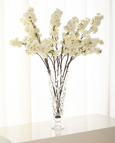 John-Richard Collection Cherry Blossom Florals in Glass Vase