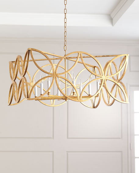 McCarty Gold Leaf Chandelier