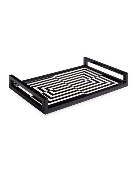 Op Art Lacquer Tray