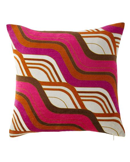 Milano Mod Tide Pillow, Orange/Pink