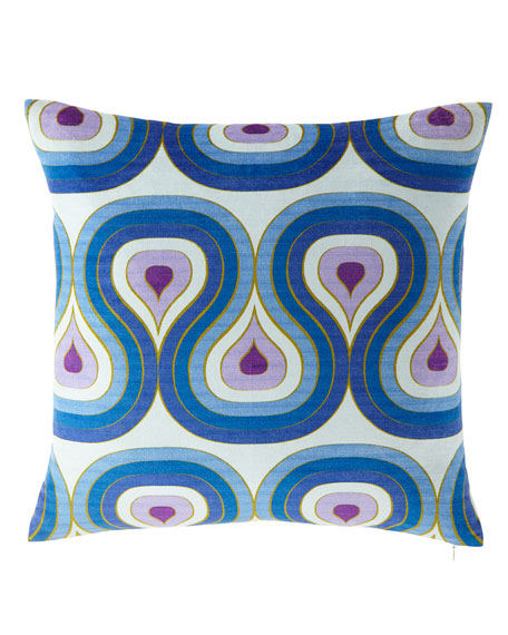Milano Concentric Loops Pillow, Purple/Blue