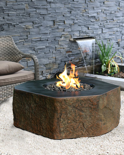 Columbia Outdoor Fire Pit Table with Propane Gas Assembly