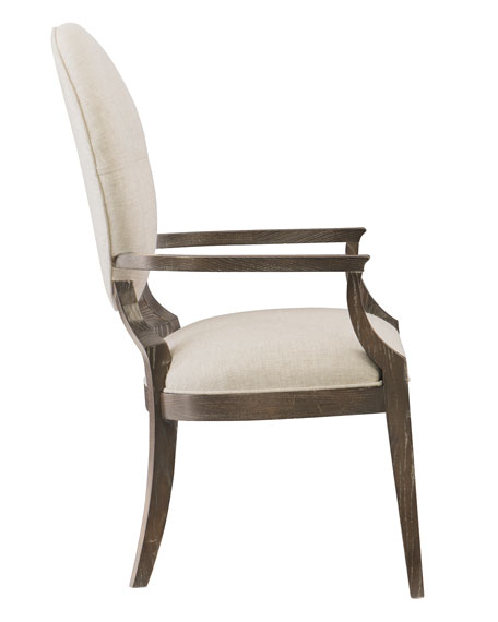 Clarendon Oval-Back Arm Chair, Single