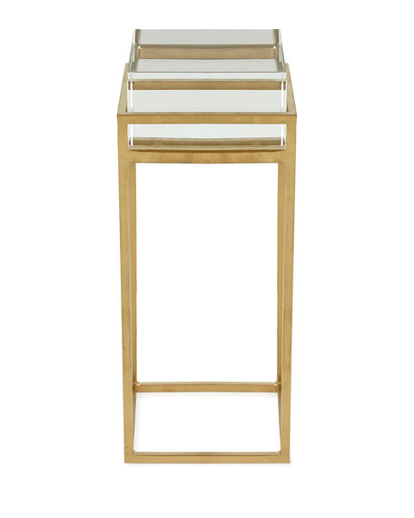 Carlyle Glass Block Side Table