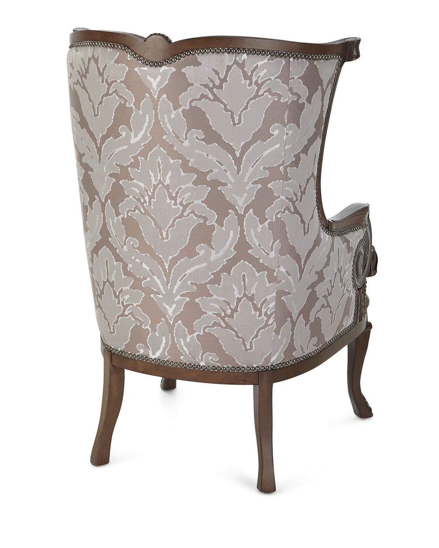 Massoudlia Damask Wing Chair