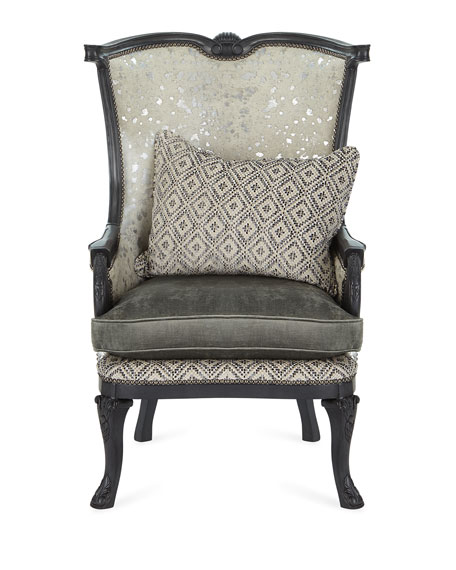 Tina Hair Hide Wing Chair