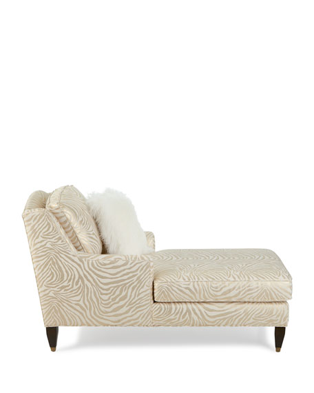 Claudia Animal-Print Chaise