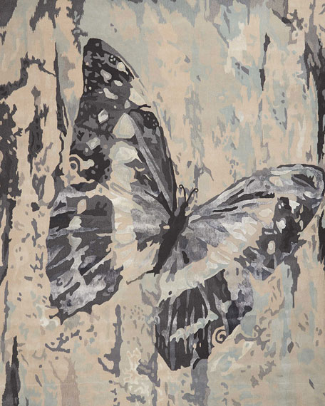 The Butterfly One of a Kind Rug, 7.75' x 9.75'