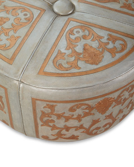 Argenta Leather Baroque Ottoman