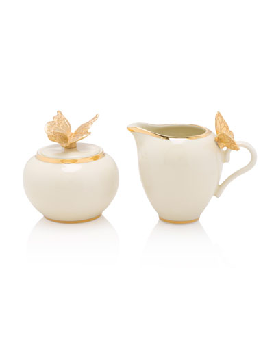 Butterfly Creamer and Sugar Set