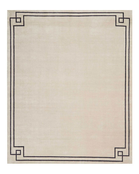 Christopher Guy Finesse Mediterranean Sand Hand-Knotted Rug, 10'