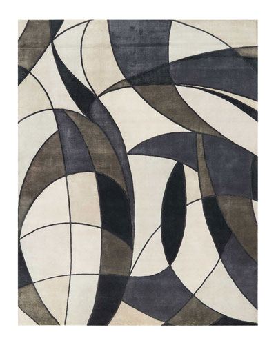 Asymetrie Mediterranean Hand-Knotted Rug, 9' x 12'