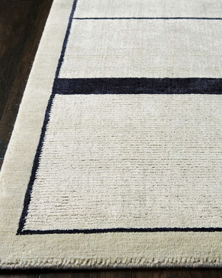 Avenue Silvery Moon Hand-Knotted Rug, 8' x 10'