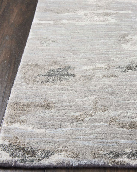 Aquarelle Natural Truffle Hand-Knotted Rug, 8' x 10'