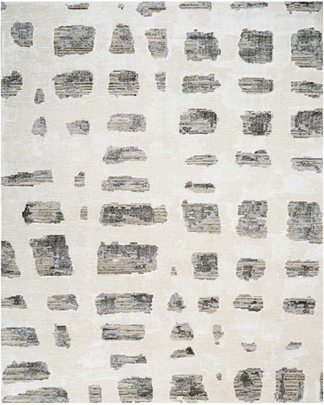 Misted Morning Hand-Knotted Rug, 10' x 14'