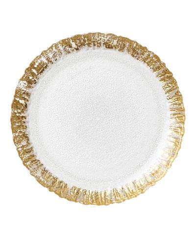 Rufolo Glass Salad Plate  Gold