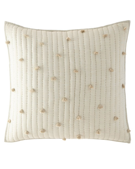 Pompoms Moonstone Quilted European Sham