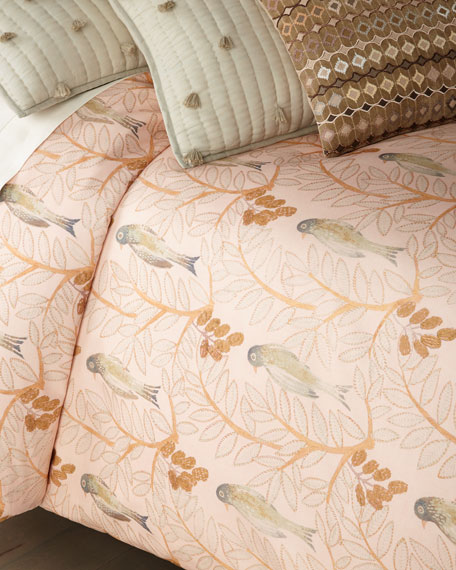 Oiseaux Sateen King Duvet Cover