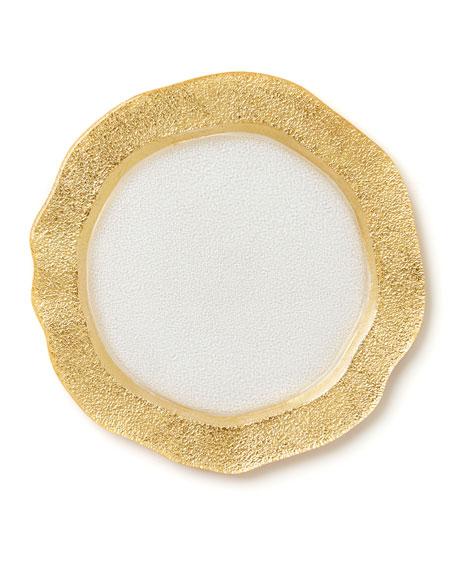 Rufolo Glass Organic Salad Plate, Gold