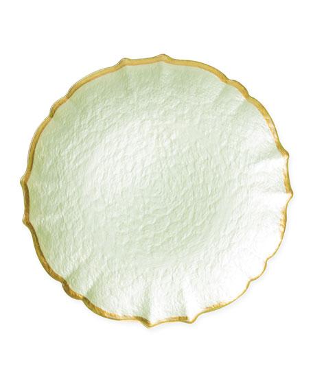 Pastel Glass Service Plate/Charger, Pistachio
