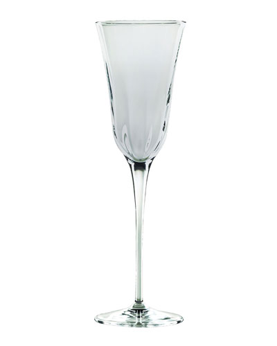 Optical Smoke Champagne Glass, Gray