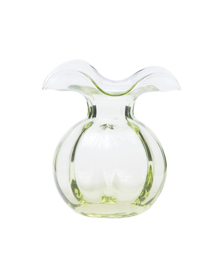 Hibiscus Glass Bud Vase, Green