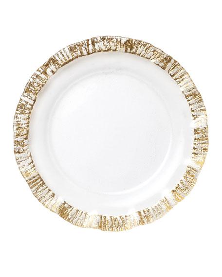 Rufolo Glass Charger, Gold