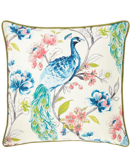 Poe Caribbean Small-Welt Pillow
