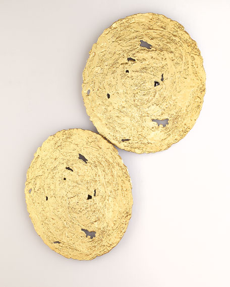 Medium Gold Circle Wall Decor