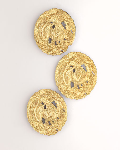 Small Gold Circle Wall Decor