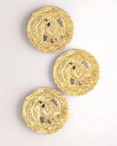 Small Gold Circle Wall Decor