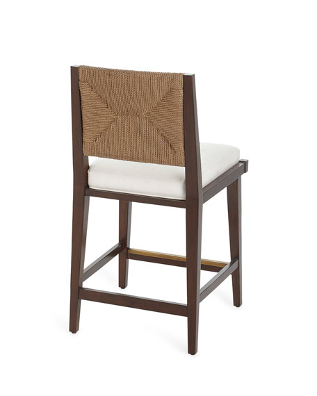 Gabby Upholstered and Jute Counter Stool