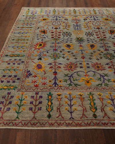 Etta Hand-Knotted Rug  6' x 9'