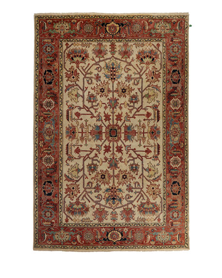Reyhan Hand-Knotted Rug, 10' x 14'