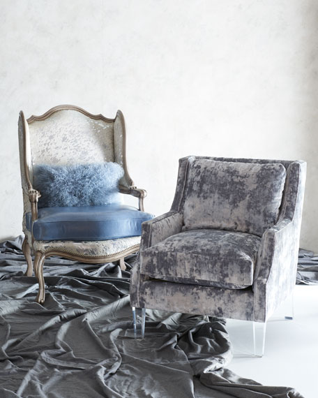 Textural Velvet Scoop Arm Chair