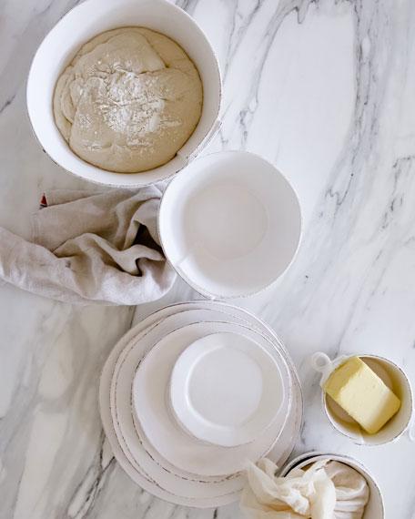 Lastra Large Stacking Serving Bowl, White