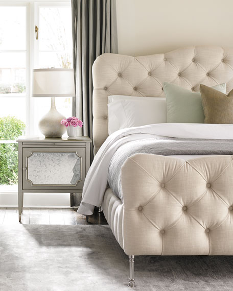 Ashleena Tufted King Bed