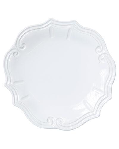 Incanto Stone Baroque Dinner Plate  White