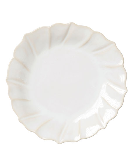 Incanto Stone Ruffle Salad Plate, Linen