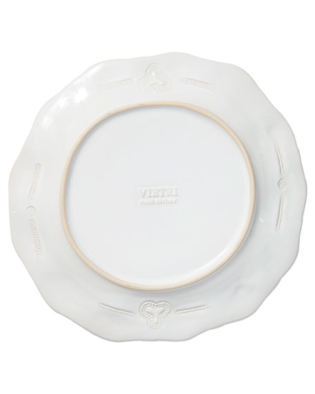 Incanto Stone Lace Dinner Plate, White