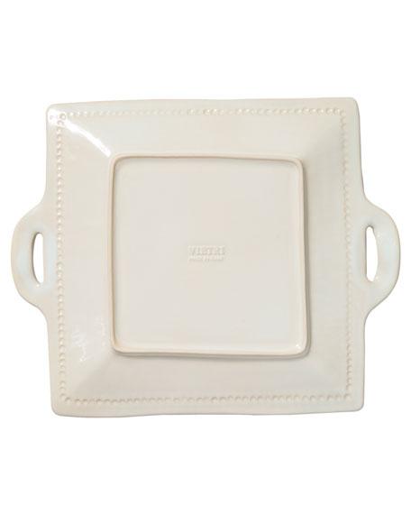 Incanto Stone Stripe Square Handled Platter, Linen