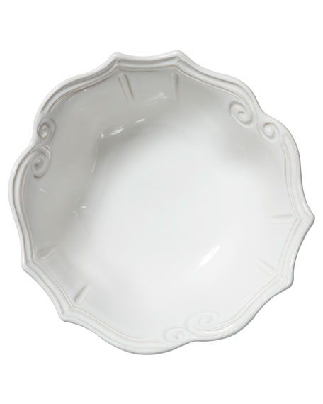 Incanto Stone Baroque Medium Serving Bowl, White