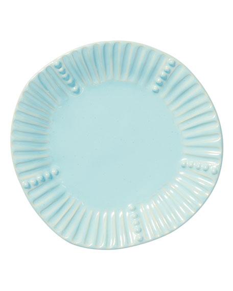 Incanto Stone Stripe Salad Plate, Aqua