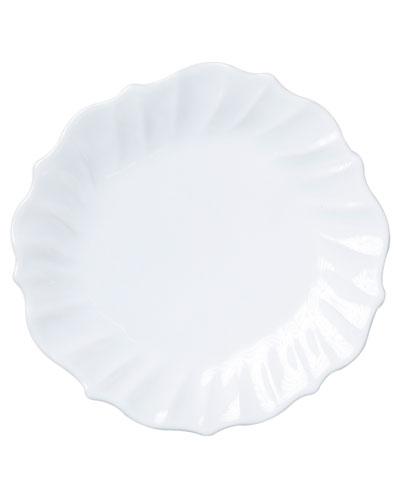 Incanto Stone Ruffle Dinner Plate  White