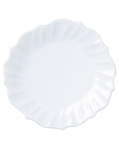 Incanto Stone Ruffle Dinner Plate, White