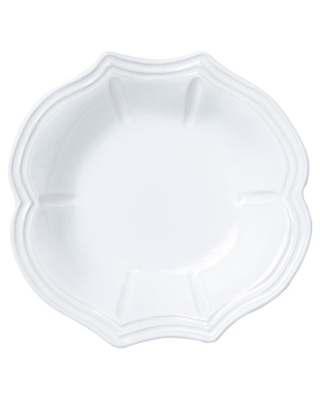 Incanto Stone Baroque Pasta Bowl, White
