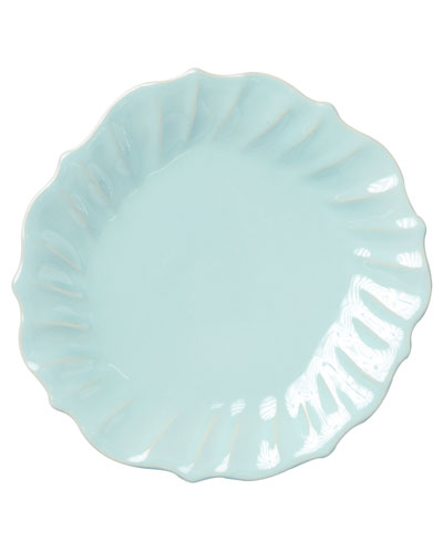 Incanto Stone Ruffle Dinner Plate  Aqua