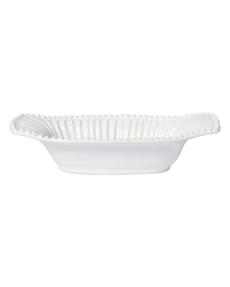 Incanto Stone Stripe Small Au Gratin, White