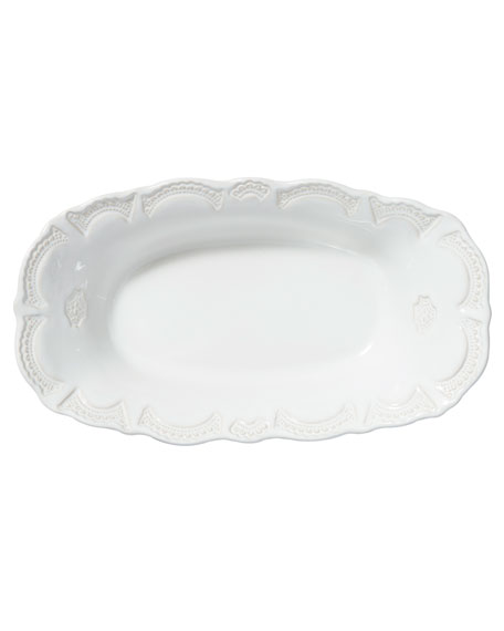Incanto Stone Lace Large Au Gratin, White